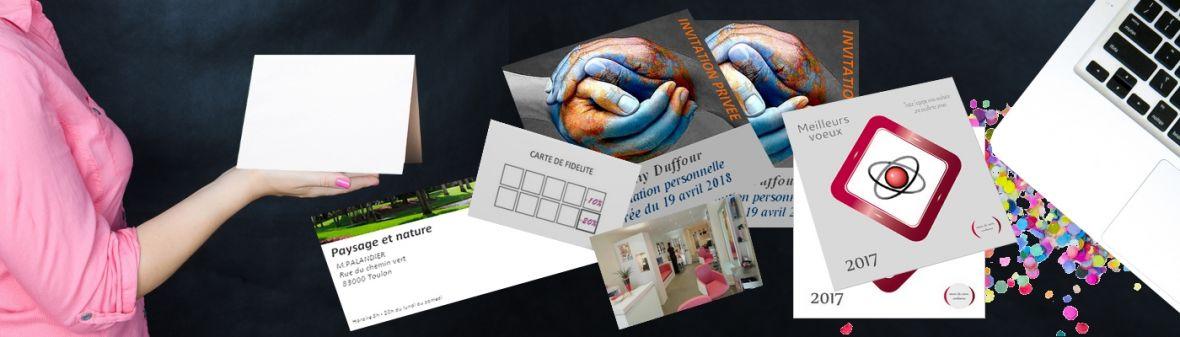 Carterie d'entreprise - Création de carte de visite, de voeux, d'invitation..simple ou originale, à vous de choisir.