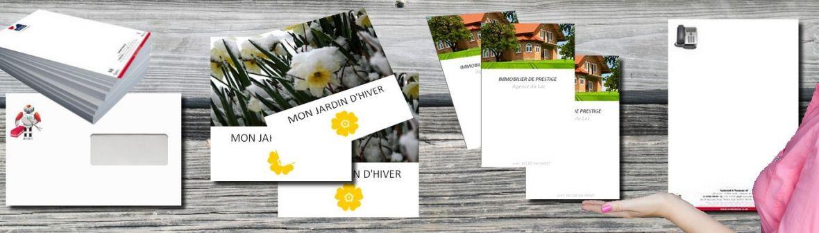 Documents commerciaux entreprise - Création de la communication commerciale papier de votre entreprise.