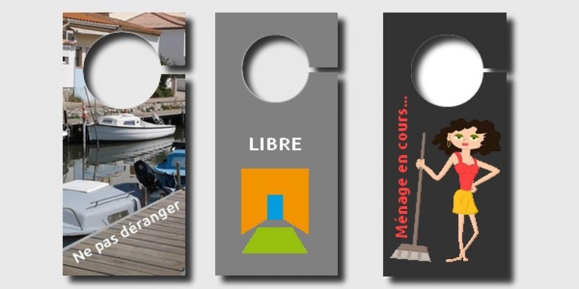 Acccroche porte personnalisé et imprimé (spécial hôtellerie)