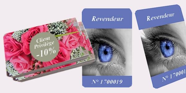 Création carte pvc de membre, client privilégié, publicitaire, événement