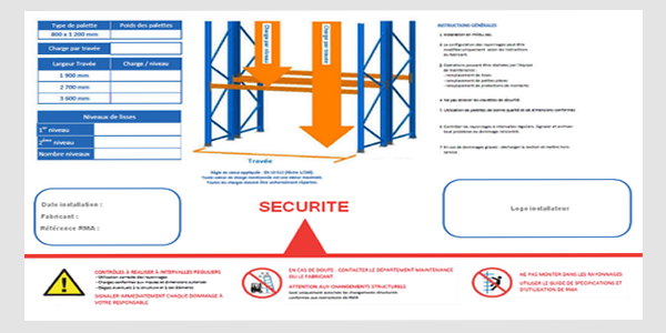 Signalisation plaque de charge et consigne sécurité entrepôt - Création de plaque de charge ou consigne de sécurité sur mesure
