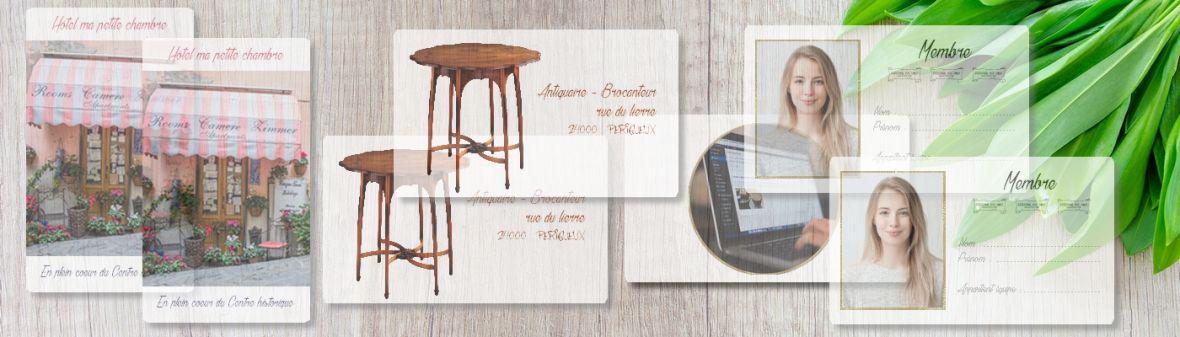 Carte transparente plexi - Création design et impression
