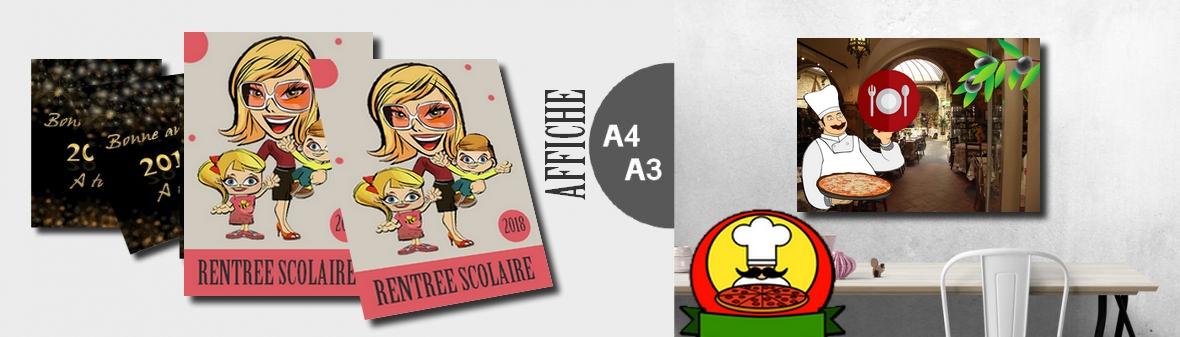 Affiche petit format - Création et impression d'affiche format A4 et A3.