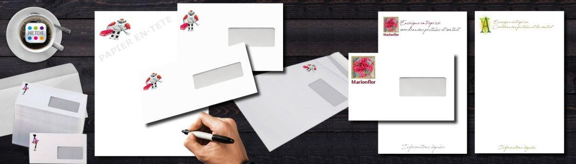 Papier en-tête courrier entreprise - Création et impression